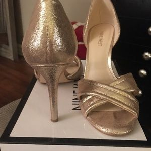 Nine West Metallic Gold Heels
